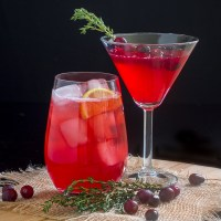 Cranberry Thyme Cocktails