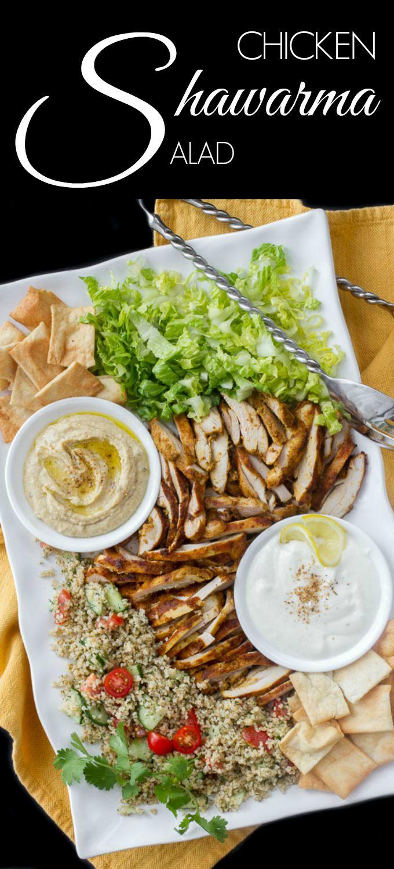 how to make a chicken shawarma salad