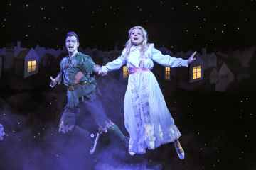 Barney Harwood (Pan) and Hannah Nicholas (Wendy) PETER PAN 2013-14 resized