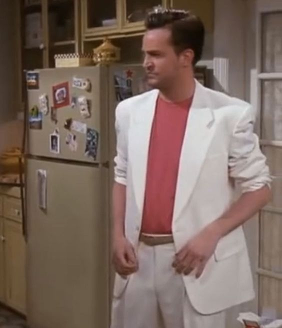 Chandler - white suit