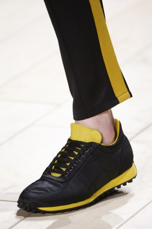 burberry yellow black trainer