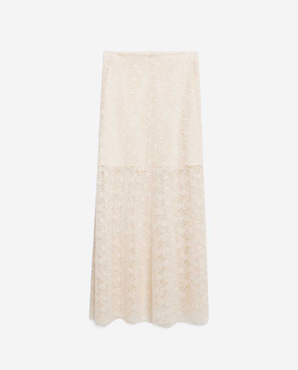 zara - LAYERED LACE MIDI SKIRT 49.99