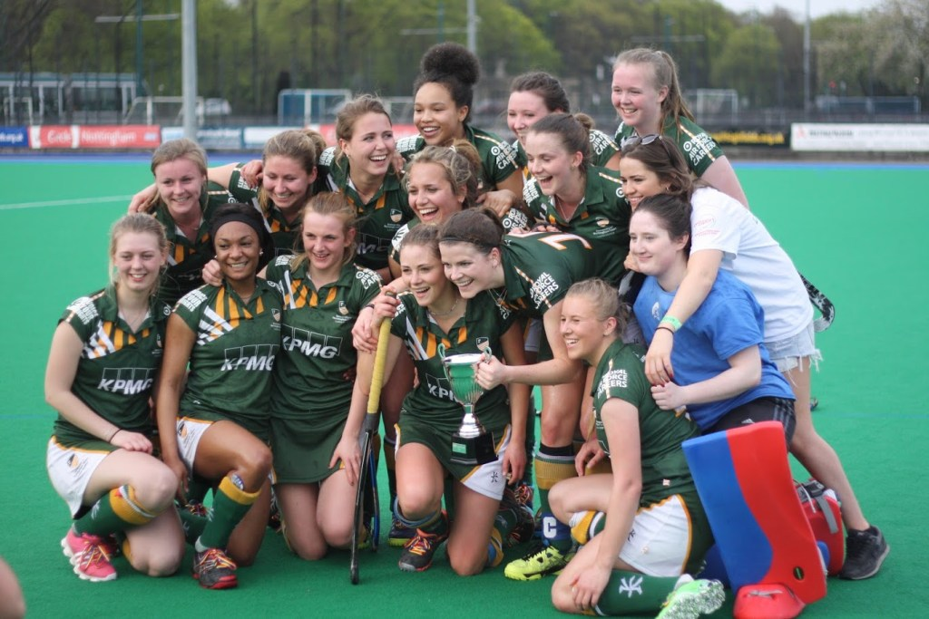 The victorious Women's Hockey Team.