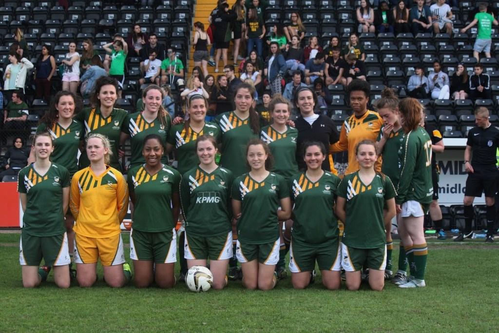 The University of Nottingham Women's Football Varsity Team.