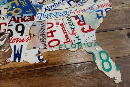 diy tutorial license plate map of the united states