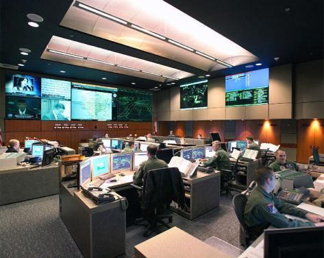 Salle du NORAD à Cheyenne Mountain (2005)