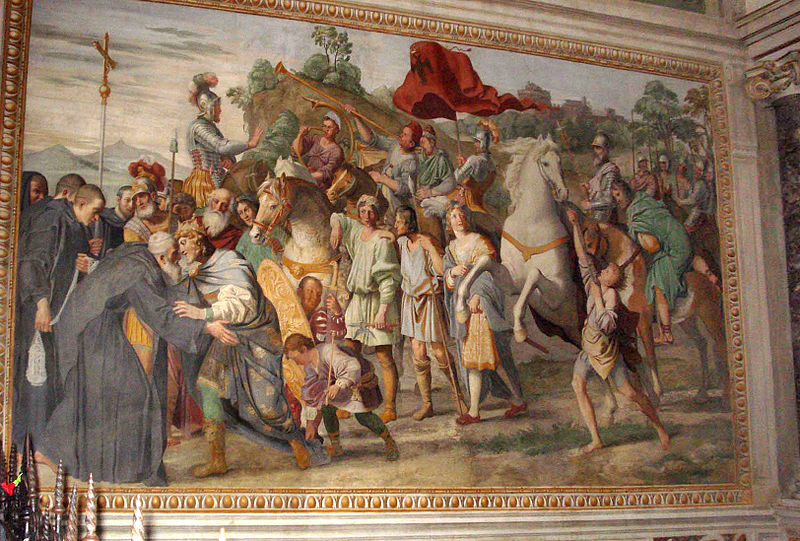 800px-Meeting_of_St_Nilus_and_Otto_III_(Domenichino)
