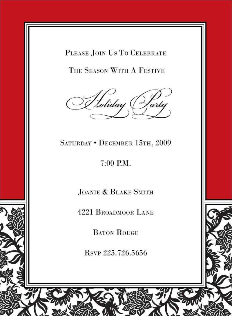 Gift Exchange Invitation Wording | Invitationswedd.org