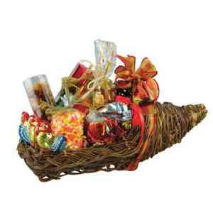 Thanksgiving Cornucopia Gift Basket