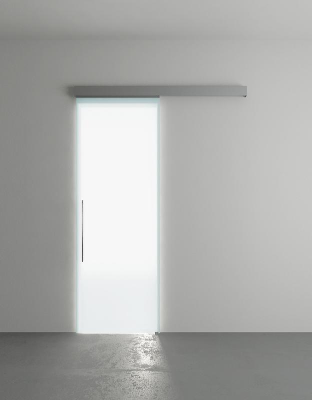 Porta scorrevole in vetro 76 x 215 (luce 70 x 210) - In-Door.it