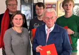 v.l. Christoph Lehmann, Frauke Bury, Nils Lindenberg, Walter Sangmeister, Tobias Fritsche.