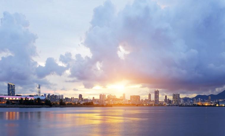 Hong Kong city sunset, Kwun Tong