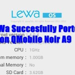 LeWa OS ICS Ported successfully on QMobile Noir A9