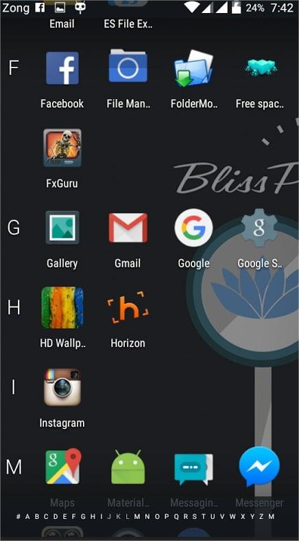 BlissPop v 3.5 Rom for QMobile Noir i7