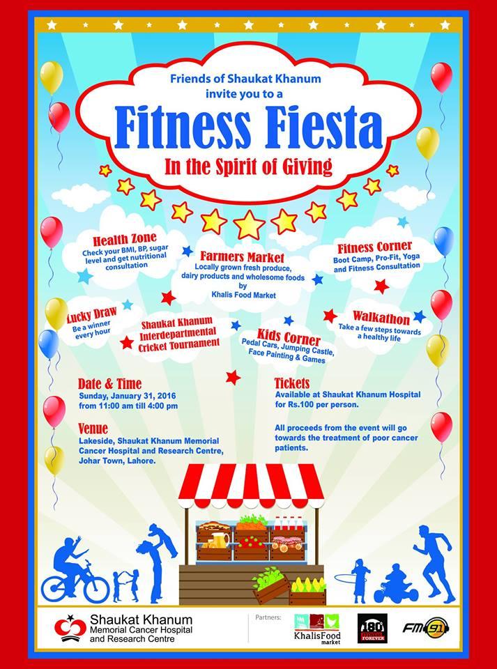 Shaukat Khanum to host Fitness Fiesta on 31st January