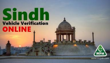 Sindh Vehicle Verification Online