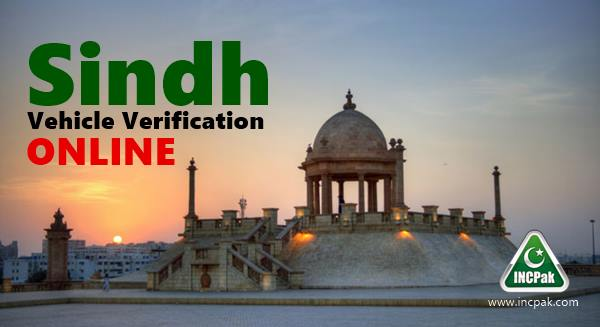 Sindh Vehicle Verification Online