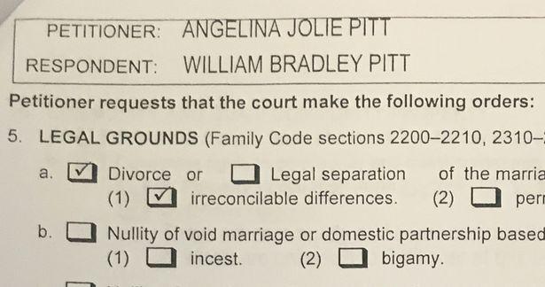 angelina and brad pitt divorce