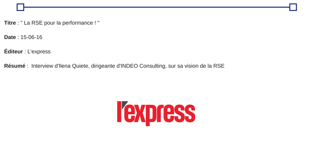 presse l'express - INDEO Consulting