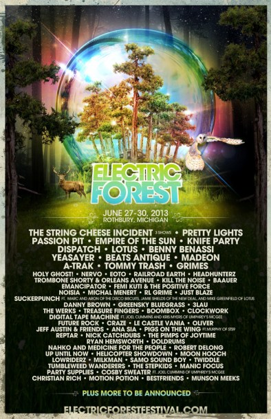 electric forest-lineup-poster-large
