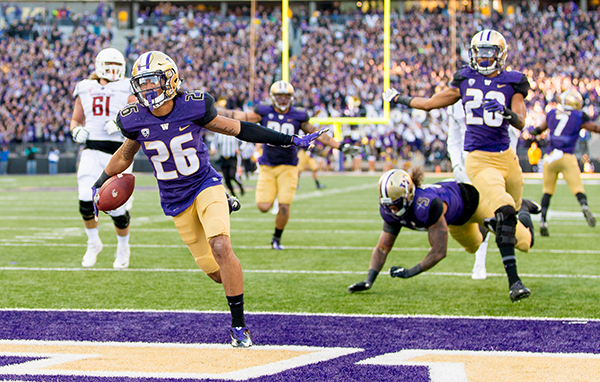 University of Washington football team plays Washington State in the Apple Cup