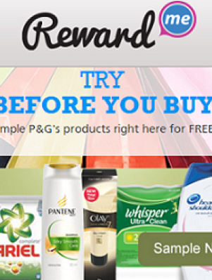 Reward Me Free Samples by P&G