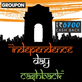 Groupon Independence Day Cashback