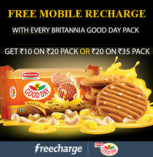 Britannia Good Day Free Recharge FreeCharge