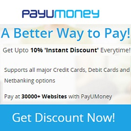 PayuMoney Extra Discount Offer