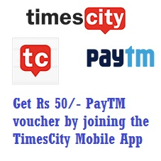 TimesCity App Paytm Offer