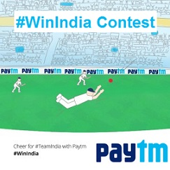 Paytm Win India Contest Cheer India to Win Rs 500 Paytm Cash