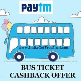 Paytm Bus Ticket Cashback Offer