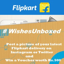 Flipkart Wishes Unboxed Contest Win Gift Voucher worth Rs.500