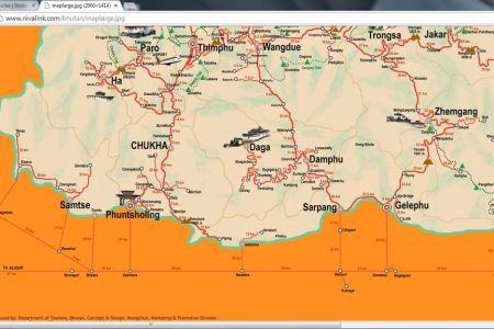 bhutan india map related keywords & suggestions bhutan