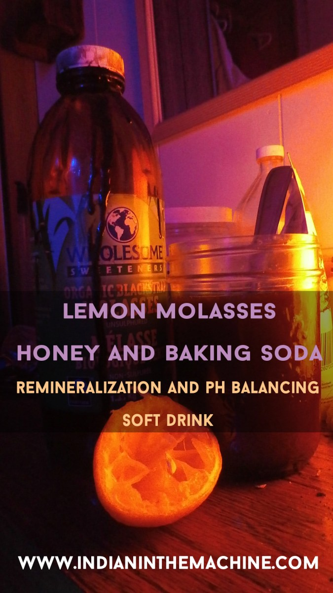 Indian's Lemon, Honey, Baking Soda and Molasses Health Restoration Tonic