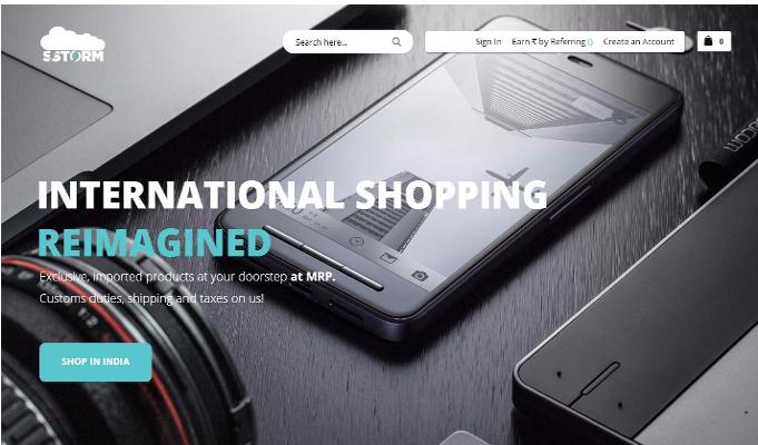 Sstorm launches e-commerce platform for Indian market