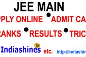 Jee main results, ranks, apply online, admit cards
