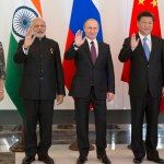 Leaders of BRICS from left,  Brazilian President Dilma Rousseff, Indian Prime Minister Narendra Modi, Russian President Vladimir Putin, Chinese President Xi Jinping and South African President Jacob Zuma pose for a photo during their meeting prior to the G-20 Summit in Antalya, Turkey, Sunday, Nov. 15, 2015. (AP Photo/Alexander Zemlianichenko)