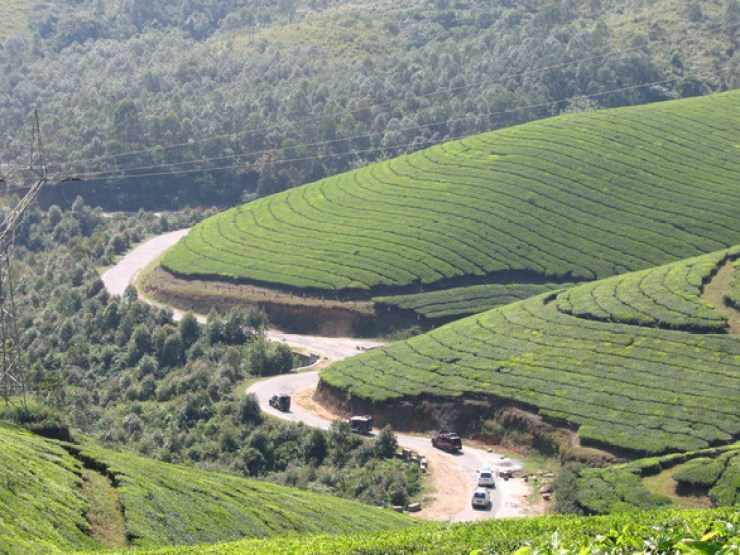 Road Route To Munnar