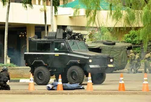 Tampil dalam Latihan Gabungan Anti Teror tahun 2011.