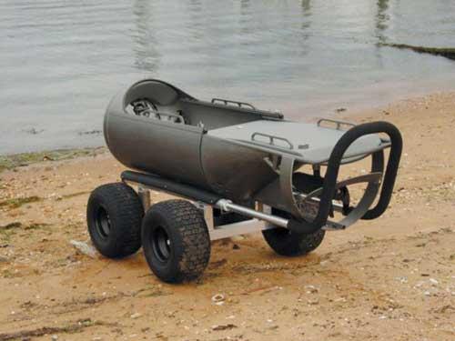 Saat di darat DPD dapat ditarik menggunakan wheeled cart dengan alumunium frame.