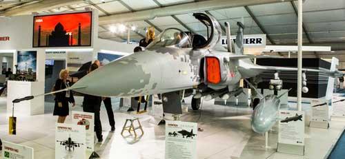 Farnborough-maquete-Gripen-foto-10-Saab