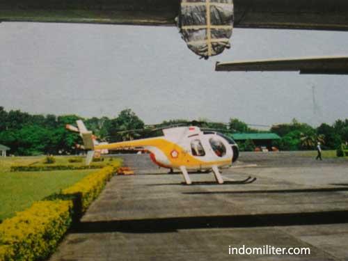 Hughes 500C TNI AU di Lanud Halim Perdanakusuma.