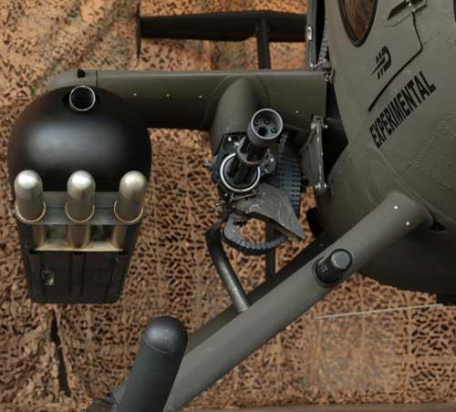 HMP Pod 12,7 mm dan Gatling gun M134D, plus rudal stinger memang jadi racikan andalan MD530G.