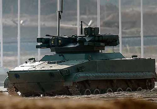 Udar UCGV: Robot Tempur Lapis Baja dari Platform Tank Amfibi BMP-3