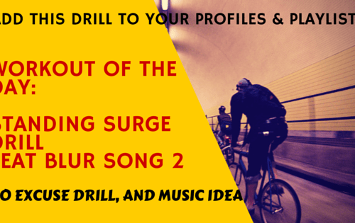 Indoor Cycling Standing Surge Drill