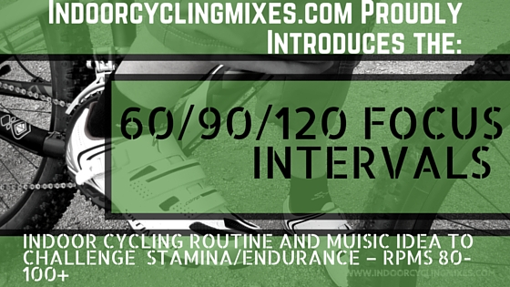 Indoor Cycling and Spin Class Ideas - 60/90/120 Focus Routine