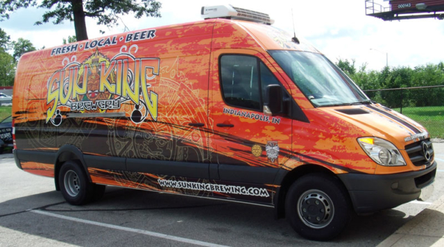 Sun King full vehicle wrap, Mercedes Sprinter wrap,