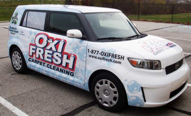 OXIFRESH scion wrap, scion full wrap, full vehicle wrap