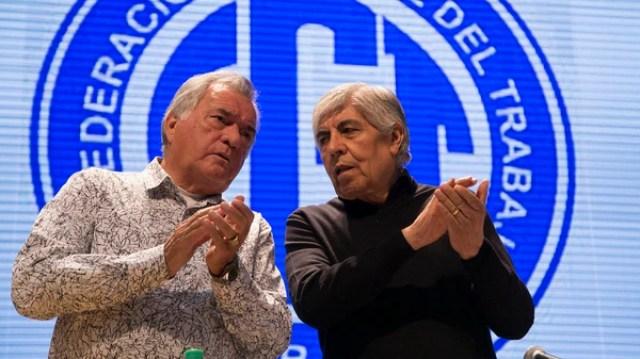 Luis Barrionuevo y Hugo Moyano (NA)